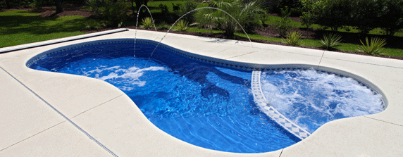 Extra large small fiberglass pools san juan pools for Pool designs victoria